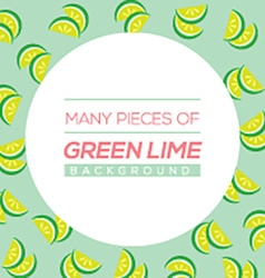Many Pieces Of Green Lime vector image