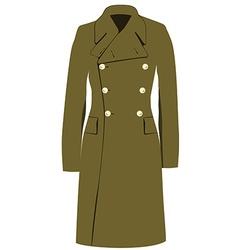 Military winter coat vector