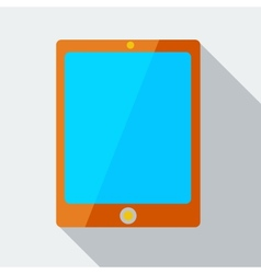 Modern flat design concept icon tablet computer vector image vector image