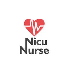 nurse lettering quote typography nicu nurse vector image
