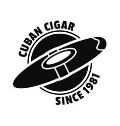 old cuban cigar logo simple style vector image