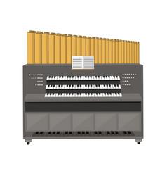 Old electronic piano organ vector