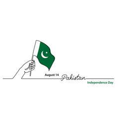 Pakistan independence day simple web banner vector