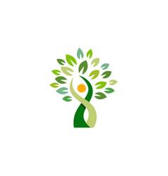 People tree wellness logo symbol icon vector