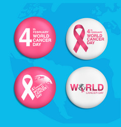 Pin world cancer day february 4th background vector