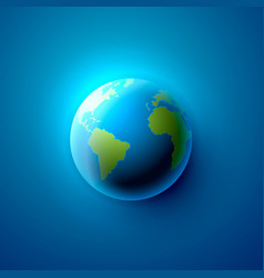 planet earth on the blue background vector image
