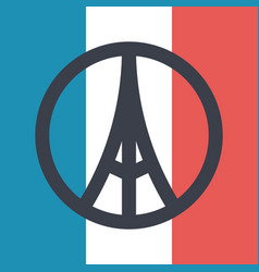 Pray for paris symbol vector