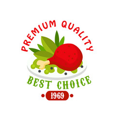 Premium quality 1969 fresh food logo template vector