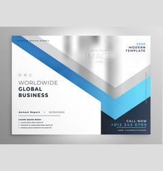 Professional blue business flyer cover template vector