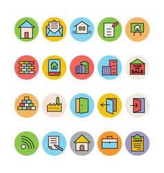Real Estate Icons 7 vector image