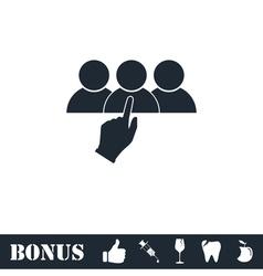 Recruitment icon flat vector