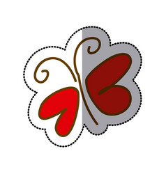 red butterfly icon image vector image