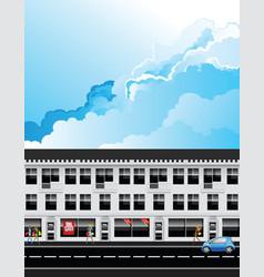 row fashion retail shops vector image