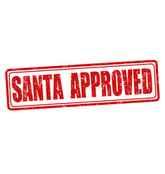 santa approved stamp vector image