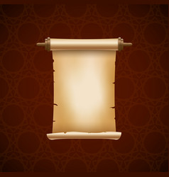 Scroll ancient paper parchment old paper vector