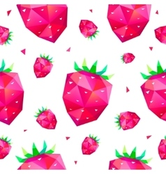 Seamless pattern with faceted berries vector