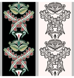 Seamless vertical pattern with Indonesian motifs vector