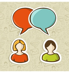 Social media chat icons set vector image