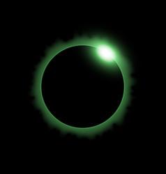 Solar eclipse green color vector