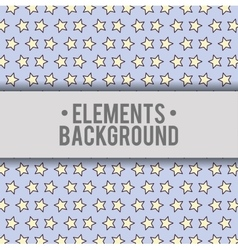 Stars background elements design vector
