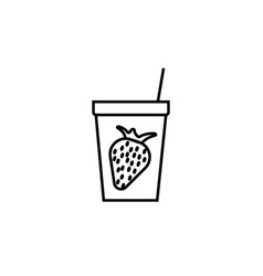 strawberry juice icon vector image