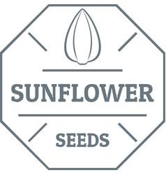 Sunflower seed logo vintage style vector