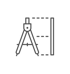 technical drawing line outline icon vector image