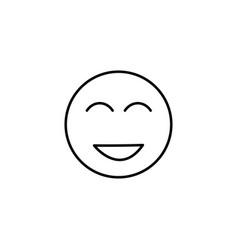 too happy emoticon vector image