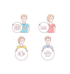 Trade infochart currency exchange and vector