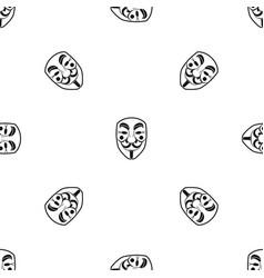 vendetta mask pattern seamless black vector image