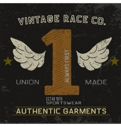 Vintage label with number one vector