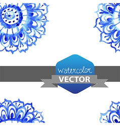 Watercolor flower seamless pattern vector image