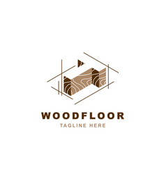 Wood logo with letter t shape vector