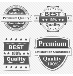 premium quality labels vector image vector image