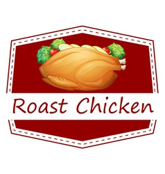 Roast Chicken vector image vector image