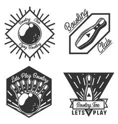 Set of bowling emblems vector image