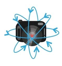 Vr camera digital video function vector