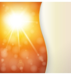 Autumn Sun Card or Background vector image