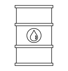 Barrel oil icon outline style vector