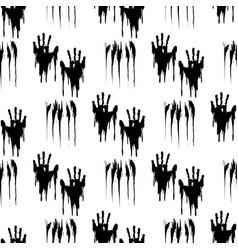Black handprints seamless pattern vector image