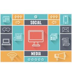 Flat concept of media market service vector image vector image
