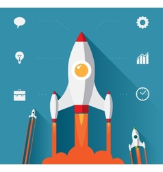 Flat design modern concept for new business vector image vector image
