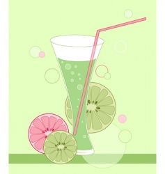 glass of lime juice vector image vector image