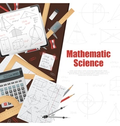 Mathematic Science Background Poster vector image vector image