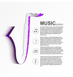 music light template vector image