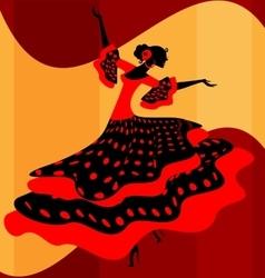Spanish woman dancer vector