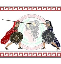 trojan war vector image vector image