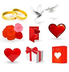 Wedding day set vector