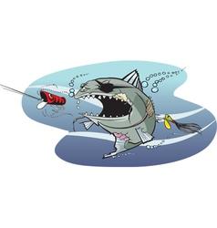 bad azz fish 2 vector image