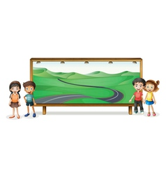 kids and board vector image